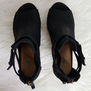 67dfb7eae36b UGG Shoes - UGG Wedges Espadrilles Black - Size USA 6.5